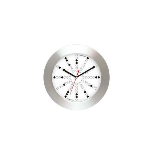 Aluminiowy zegar ścienny z binarną tarczą
