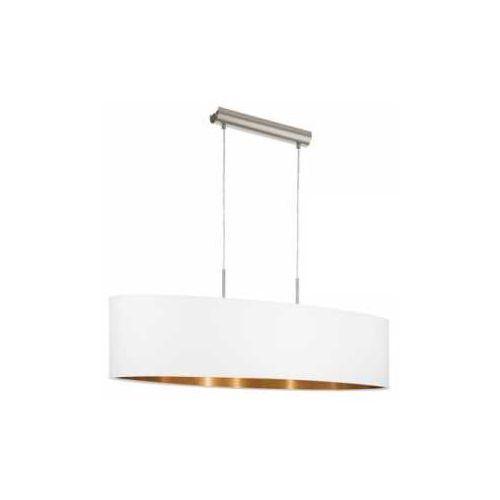 Lampa wisząca Eglo Pasteri 95047 z abażurem 2x60W E27 biały/miedź (9002759950477)