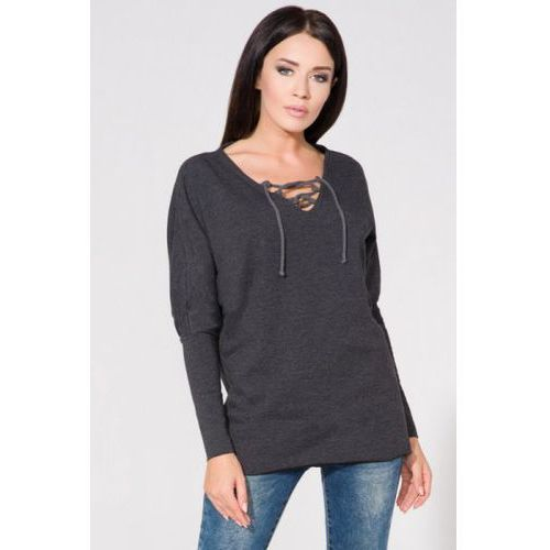 Bluza damska model t141 dark grey, Tessita