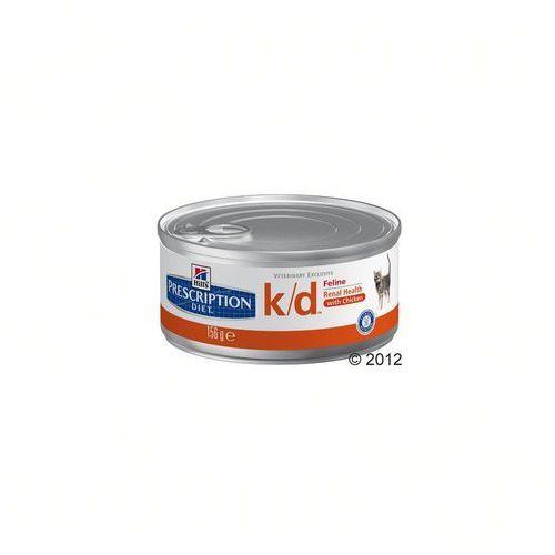 Hill's Prescription Diet Feline Renal Health K/D, puszki - 12 x 156 g