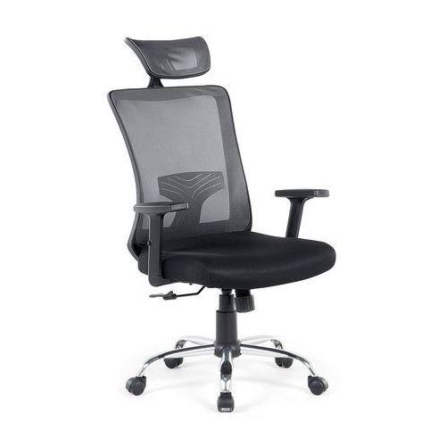 Beliani Krzesło czarne - biurowe - obrotowe - komputerowe - noble (7081459545109)