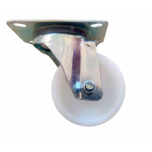 Koło fi 80 mm skrętne na płytkę poliamid. 90 kg nośność.
