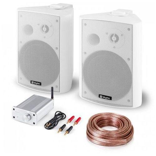 Skytec Zestaw nagłośnieniowy hi-fi Bluetooth Play WH głośniki z miniwzmacniaczem Blueto