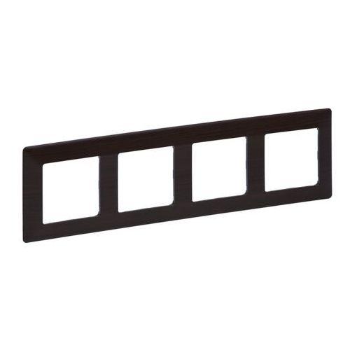 Legrand 754174 - ramka dla przełączników valena life 4p ciemne drewno (3414970456472)