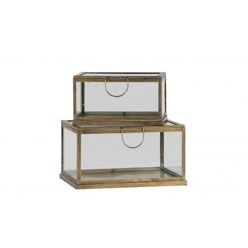 zestaw 2 pudełek metal/szkło 800805-b marki Be pure