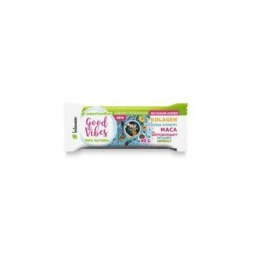 Baton owocowy z macą, nasionami konopi i kolagenem Good Vibes 30 g Intenson, bgv_30g