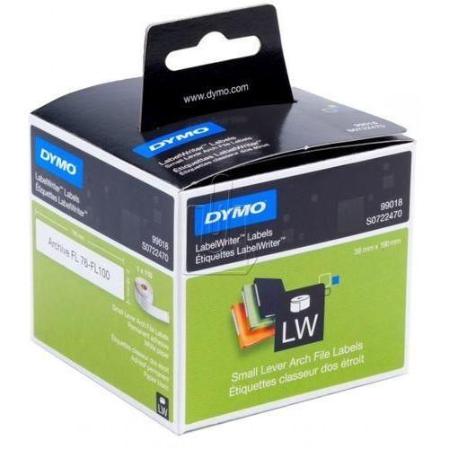 Etykiety do drukarek etykiet DYMO S0722470, 38 x 190 mm, Etykiety do folderów, biały