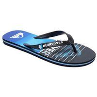 Japonki - molohighlinesla black/black/blue (xkkb) rozmiar: 45, Quiksilver