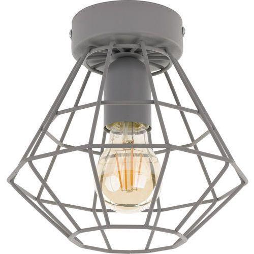 Tklighting Plafon lampa druciana sufitowa diament tk lighting diamond 1x60w e27 szary 2293