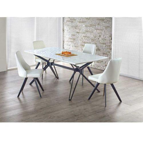 PASCAL stół rozkładany biało-czarny