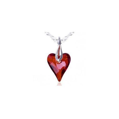Swarovski crystals Wisiorek dzikie serce, czerwone