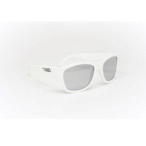 aces navigator okulary przeciwsłoneczne dla dzieci (07-14) białe/lustrzane szkła marki Babiators