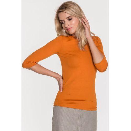 Pomarańczowa bluzka basic - Ryba