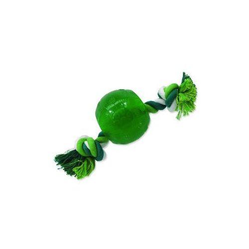 Zabawka DOG FANTASY Strong Mint piłeczka gumowa na snurze zielona 8,2 cm
