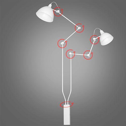 Kinkiet lampa ścienna Aldex Aida łamany mmniejszy 2x60W E27 biały, biały środek kloszy 814D, 814D