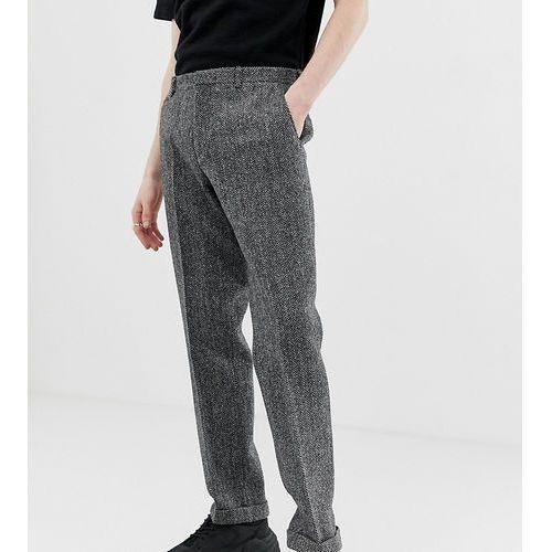 Noak slim fit harris tweed suit trousers in grey - Grey
