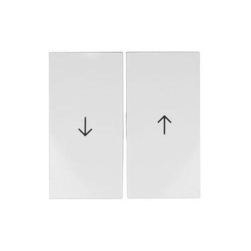 Klawisze łącznika żaluzjowego białe 5316258989 B.Kwadrat Berker