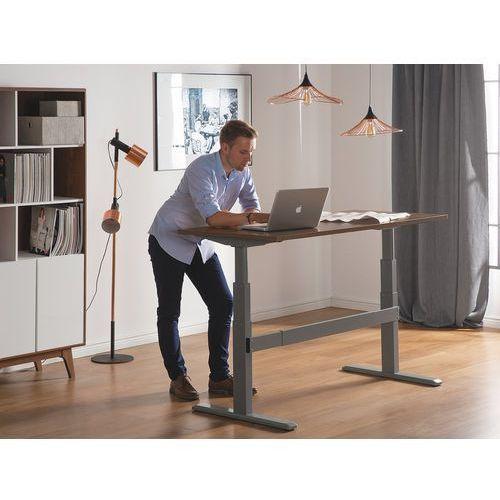 Biurko brązowo-szare 160 x 70 cm regulowane elektrycznie UPLIFT (7105271819399)