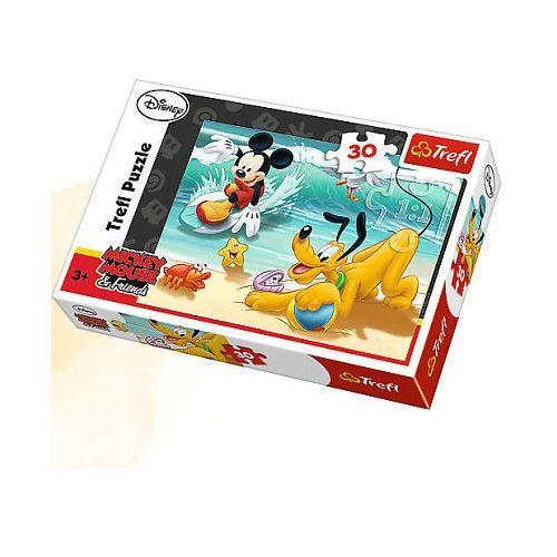 PUZZLE 30 MIKI I PLUTO NA PLAZY-TREFL (5900511182071)