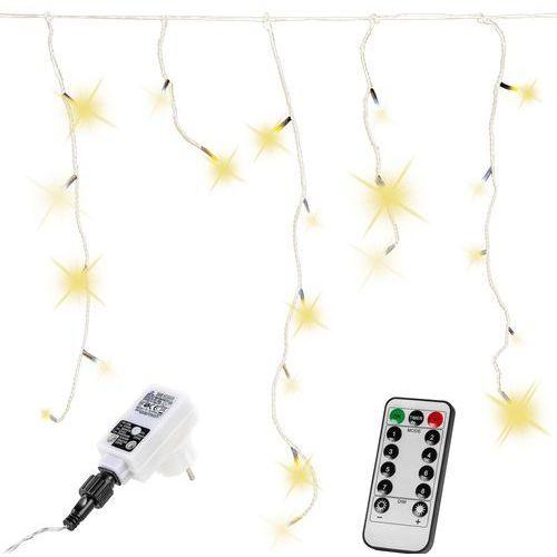 Voltronic ® Zwisające lampki choinkowe na dom 200 diod ciepło białych + pilot - ciepła biel / 200 led (4048821745393)