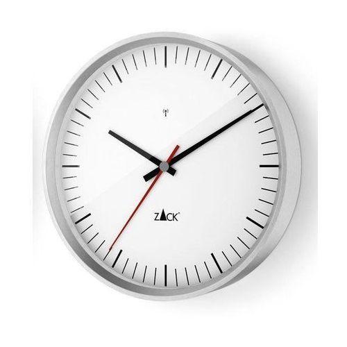 Zegar ścienny sterowany radiowo vida 24 cm biały marki Zack