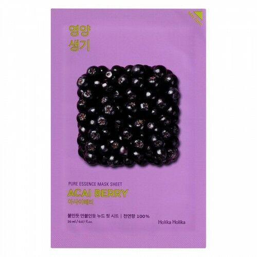 Holika Holika Pure Essence Mask Sheet, Acai Berry (20 ml), 25670526575