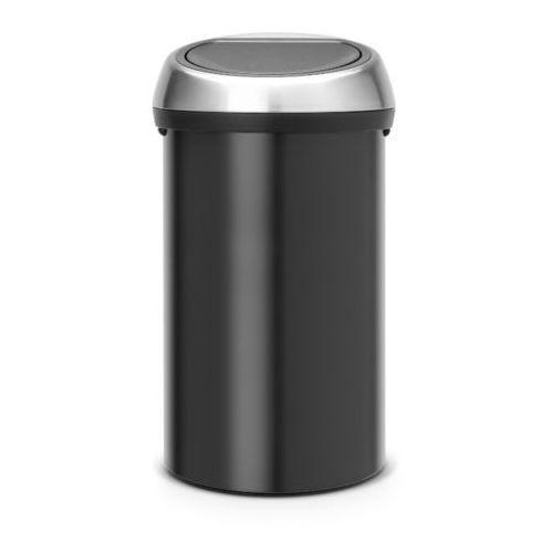 Brabantia - kosz 'touch bin' - pokrywa stalowa - 60l - czarny - czarny ||srebrny