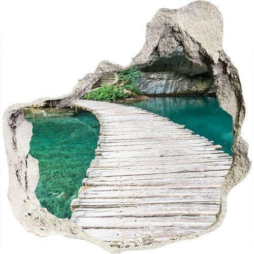 Dziura 3d w ścianie naklejka Jeziora Plitwickie