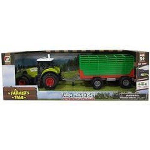 Traktor z przyczepą dzwiękiem i światłem (6901440112411)