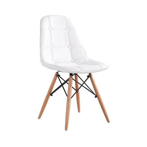 Pikowane krzesło z ekoskóry Ekos Wood
