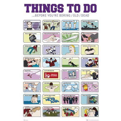 Rzeczy do Zrobienia w Twoim Życiu - plakat motywacyjny - produkt z kategorii- Plakaty