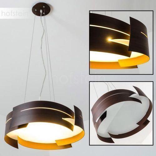Hofstein Novara lampa wisząca brązowy, 3-punktowe - nowoczesny/design - obszar wewnętrzny - novara - czas dostawy: od 3-6 dni roboczych