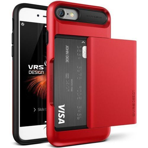 Vrs design Etui damda glide do iphone 7 czerwony (8809477682717)