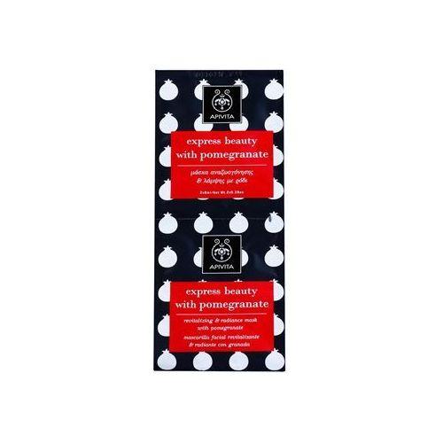 Apivita Express Beauty Pomegranate maseczka rewitalizująca i rozjaśniająca 2 x 8 ml - produkt z kategorii- Maseczki do twarzy