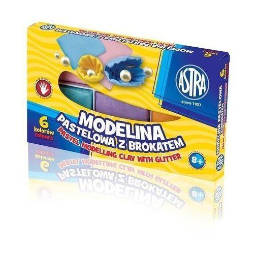 Astra papiernicze Modelina 6 kolorów pastelowa z brokatem astra (5901137112268)