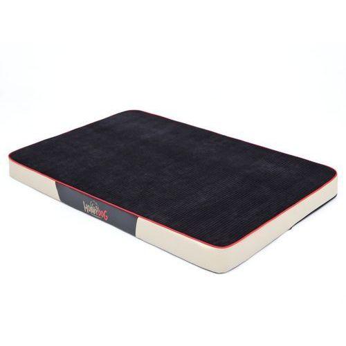 Hobbydog Xl materac premium - czarny sztruks i beżowa eko skóra