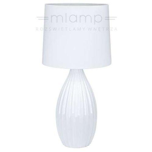 Abażurowa LAMPA stołowa STEPHANIE 106887 Markslojd stojąca LAMPKA biurkowa biała