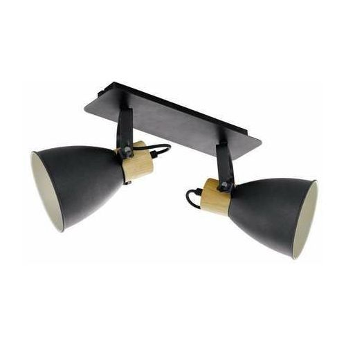Eglo Coswarth 99075 plafon lampa sufitowa spot 2x40W E27 antracyt/drewno