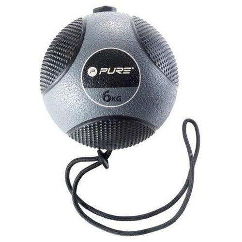 Piłka lekarska z liną PURE 2 IMPROVE Medicine Ball Rope 6 kg + DARMOWY TRANSPORT! (8719407003638)