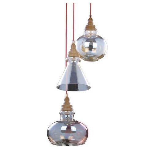 LAMPA wisząca UNIVERSE 9714312 Spotlight szklana OPRAWA zwis kaskada brunatna przezroczysta, 9714312
