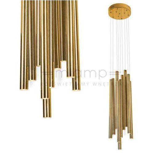 Maxlight Lampa wisząca organic p0265 metalowa oprawa tuby led 10w zwis sople złote