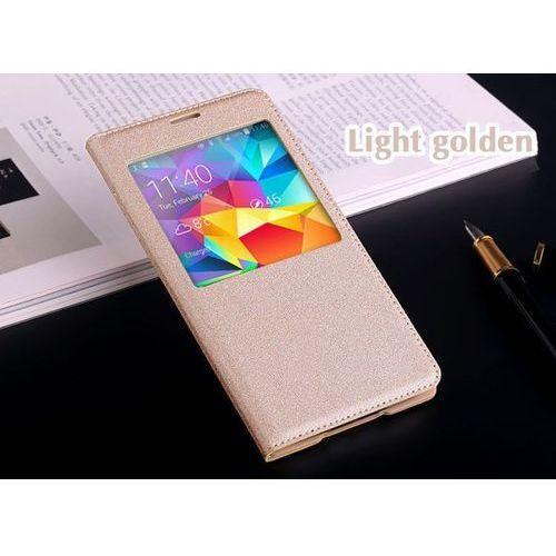 Flip Leather Złoty | Etui z klapką dla Samsung Galaxy S5 / S5 Neo - Złoty