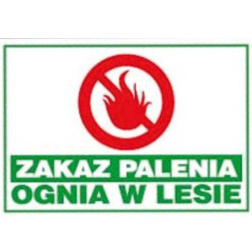 Zakaz palenia ognisk w lesie - duża tablica marki Mój dom