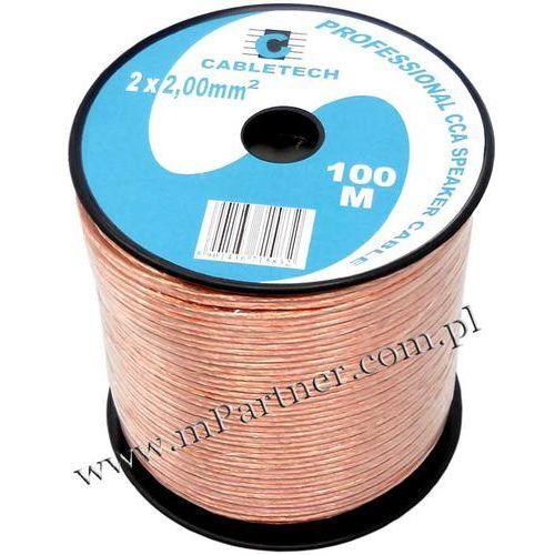 Przewód głośnikowy kabel CCA 2x2 mm