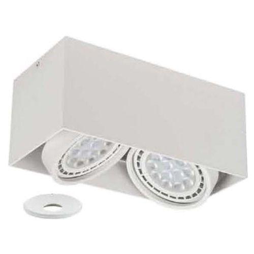 Lampa sufitowa cardi ii bianco + ufo bianco prostokątna oprawa metalowa ruchoma biała marki Orlicki design