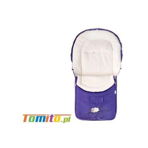 Śpiworek do wózka kombinezon zimowy polarowy purple marki Caretero