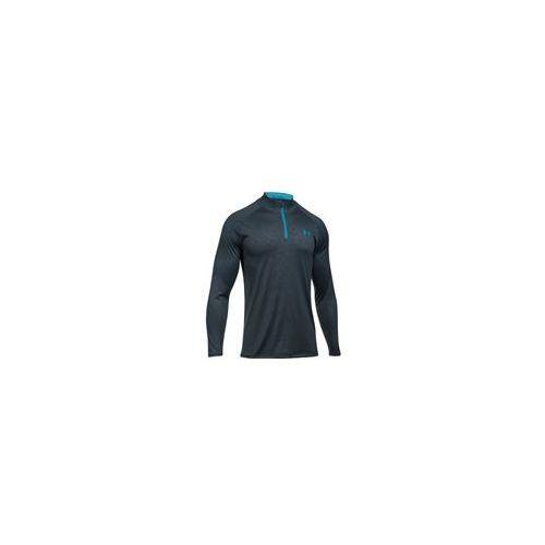 Under armour men's tech emboss 1/4 zip long sleeve top grey/blue 1szt