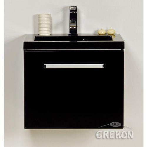 Szafka wisząca kolor czarny z umywalką 50/39C seria Fokus C, kolor czarny