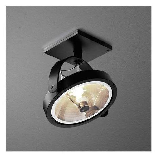 LAMPA sufitowa CERES 111 14311-0000-T8-PH-02 Aqform ścienna OPRAWA metalowa minimalistyczna ruchomy reflektorek czarny, kolor Czarny