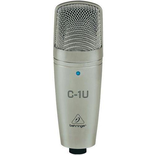 Behringer Mikrofon studyjny usb  c-1u, komunikacja: przewodowa z klipsem, z kablem